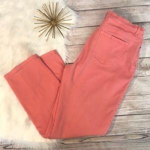 Gloria Vanderbilt peach Amanda Jeans size 14